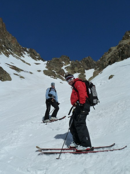 In the couloir